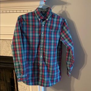 Vineyard Vines boys plaid button down
